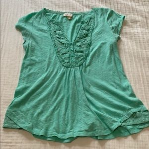 MEADOW RUE MINT TOP FROM ANTHROPOLOGIE